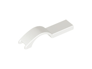 LEGO Vehicle, Mudguard 1 x 4 1/2 [White] [50947]