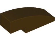 LEGO Slope, Curved 3 x 1 No Studs [Dark Brown] [50950]