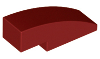 LEGO Slope, Curved 3 x 1 No Studs [Dark Red] [50950]