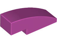 LEGO Slope, Curved 3 x 1 No Studs [Magenta] [50950]