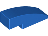 LEGO Slope, Curved 3 x 1 No Studs [Blue] [50950]