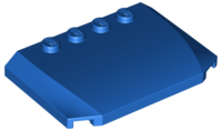 LEGO Wedge 4 x 6 x 2/3 Triple Curved [Blue] [52031]