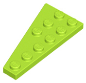 LEGO Wedge, Plate 6 x 3 Right [Lime] [54383]