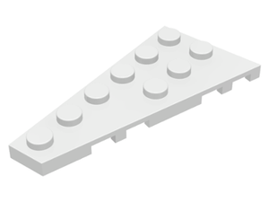 LEGO Wedge, Plate 6 x 3 Left [White] [54384]
