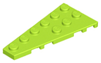 LEGO Wedge, Plate 6 x 3 Left [Lime] [54384]