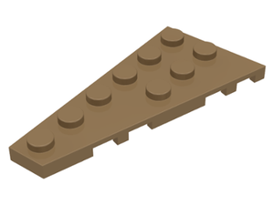 LEGO Wedge, Plate 6 x 3 Left [Dark Tan] [54384]