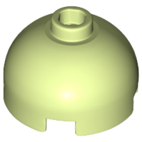 LEGO Brick, Round 2 x 2 Dome Top - Hollow Stud with Bottom Axle Holder x Shape + Orientation [Yellowish Green] [553c]