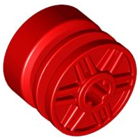 LEGO Wheel 18mm D. x 14mm with Axle Hole, Fake Bolts and Shallow Spokes [Red] [55982]