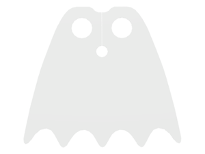 LEGO Minifigure, Cape Cloth, Scalloped 5 Points (Batman) - Traditional Starched Fabric [White] [56630]