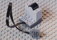 LEGO Electric, Power Functions Receiver Unit with Dark Bluish Gray Bottom [Light Bluish Gray] [58123c01]