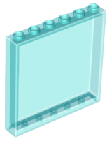 LEGO Panel 1 x 6 x 5 [Trans-Light Blue] [59349]