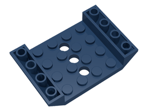 LEGO Slope, Inverted 45 6 x 4 Double with 4 x 4 Cutout and 3 Holes [Dark Blue] [60219]