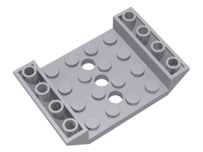 LEGO Slope, Inverted 45 6 x 4 Double with 4 x 4 Cutout and 3 Holes [Light Bluish Gray] [60219]