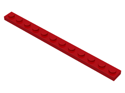 LEGO Plate 1 x 12 [Red] [60479]