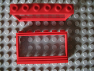 LEGO Window 1 x 6 x 3 Panorama with Glass [Red] [604c01]