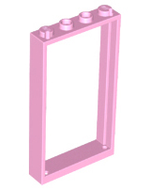 LEGO Door Frame 1 x 4 x 6 with Two Holes on Top and Bottom [Bright Pink] [60596]