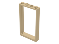 LEGO Door Frame 1 x 4 x 6 with Two Holes on Top and Bottom [Tan] [60596]