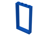 LEGO Door Frame 1 x 4 x 6 with Two Holes on Top and Bottom [Blue] [60596]