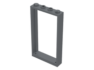 LEGO Door Frame 1 x 4 x 6 with Two Holes on Top and Bottom [Dark Bluish Gray] [60596]