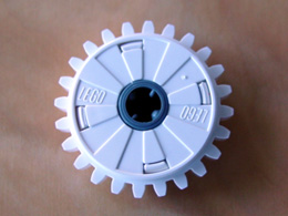 LEGO Technic, Gear 24 Tooth Clutch [White] [60c01]
