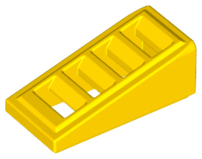 LEGO Slope 18 2 x 1 x 2/3 with 4 Slots [Yellow] [61409]