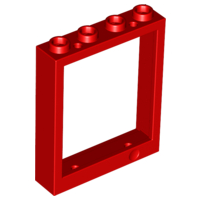 LEGO Door Frame 1 x 4 x 4 (Lift) [Red] [6154]