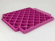 LEGO Belville Wall, Lattice 12 x 1 x 12 Square [Dark Pink] [6165]