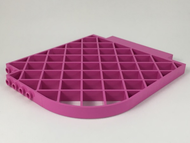 LEGO Belville Wall, Lattice 12 x 1 x 12 Curved [Dark Pink] [6166]
