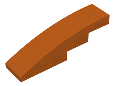 LEGO Slope, Curved 4 x 1 No Studs [Dark Orange] [61678]