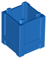 LEGO Container, Box 2 x 2 x 2 - Top Opening [Blue] [61780]