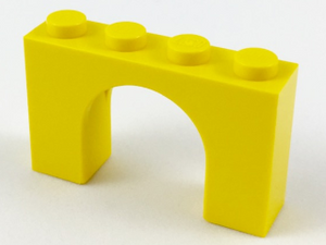 LEGO Brick, Arch 1 x 4 x 2 [Yellow] [6182]