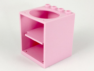 LEGO Container, Cupboard 4 x 4 x 4 with Elliptical Hole for Sink [Pink] [6197]