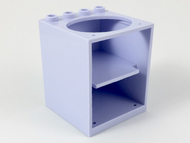 LEGO Container, Cupboard 4 x 4 x 4 with Elliptical Hole for Sink [Light Violet] [6197]