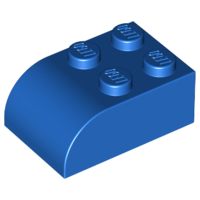 LEGO Brick, Modified 2 x 3 with Curved Top [Blue] [6215]