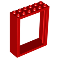LEGO Door Frame 2 x 6 x 6 Freestyle [Red] [6235]