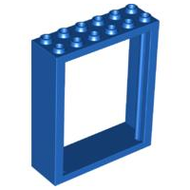 LEGO Door Frame 2 x 6 x 6 Freestyle [Blue] [6235]