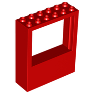 LEGO Window 2 x 6 x 6 Freestyle [Red] [6236]