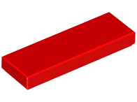 LEGO Tile 1 x 3 [Red]  [63864]