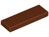 LEGO Tile 1 x 3 [Reddish Brown] [63864]