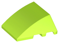 LEGO Wedge 4 x 3 No Studs [Lime] [64225]