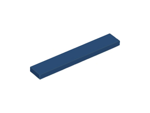 LEGO Tile 1 x 6 [Dark Blue] [6636]