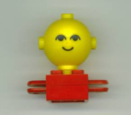 LEGO Homemaker Figure Torso Assembly and Yellow Head with Eyes and Smile Pattern [Red] [685px1c01]