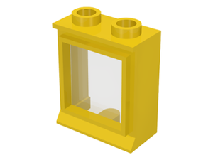 LEGO Window 1 x 2 x 2 with Fixed Glass [Yellow] [7026]