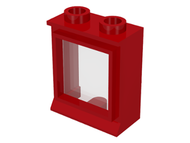 LEGO Window 1 x 2 x 2 with Fixed Glass [Red] [7026]