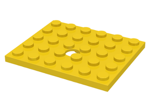 LEGO Plate, Modified 5 x 6 with Hole [Yellow] [711]