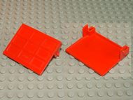 LEGO Garage Door Solid (without Counterweights) - Old with Hinge Pins [Red] [822b]