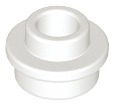 LEGO Plate, Round 1 x 1 with Open Stud [White] [85861]