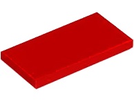 LEGO Tile 2 x 4 [Red]  [87079]