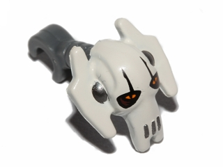 LEGO Minifigure, Head Modified SW General Grievous White Pattern [Dark Bluish Gray] [87567pb02]