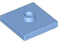 LEGO Plate, Modified 2 x 2 with Groove and 1 Stud in Center (Jumper) [Medium Blue] [87580]